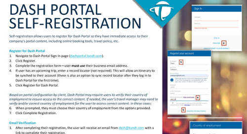 Dash Portal Self Registration