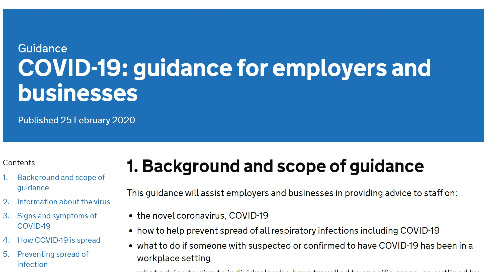 COVID-19: guidance for employers and businesses (Gov.UK)