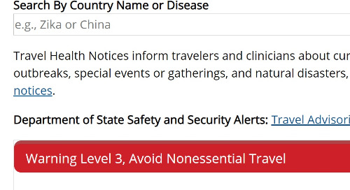 Travel Health Notices (CDC)