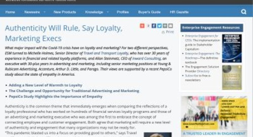 Authenticity Will Rule during, after COVID-19, Say Loyalty, Marketing Execs