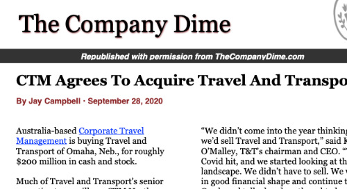 The Company Dime: CTM Agrees To Acquire Travel And Transport