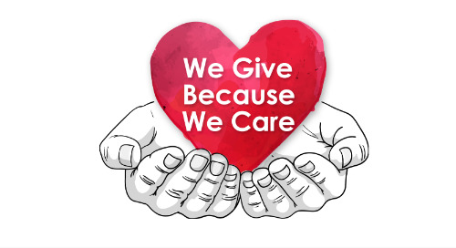 We Give Because We Care