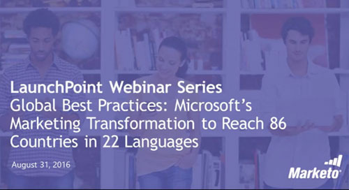Press Release: Webinar to Reveal Microsoft's Global Marketing Transformation Using Cloudwords and Marketo