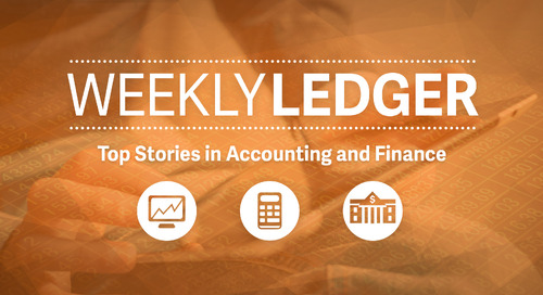 Weekly Ledger 33: Top Stories in Accounting and Finance