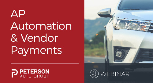 AP Automation and Vendor Payments with Peterson Auto Group
