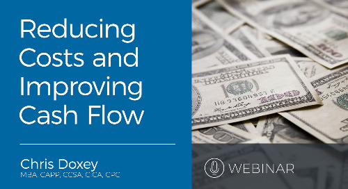 Webinar: Reducing Costs and Improving Cash Flow