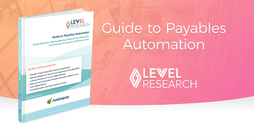 Guide to Payables Automation, with Levvel Research