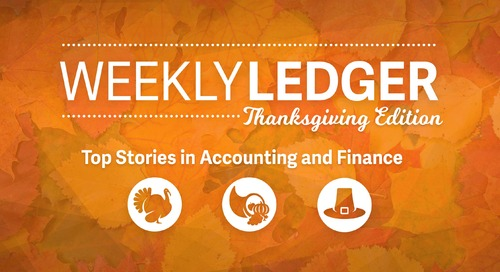 Weekly Ledger: Thanksgiving '17 Edition