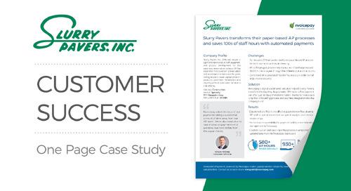 Customer Story: Slurry Pavers