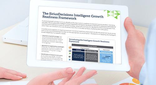 The SiriusDecisions Intelligent Growth Readiness Framework