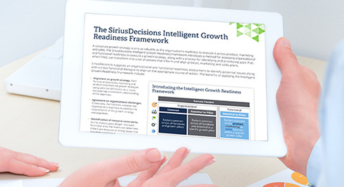 The SiriusDecisions Intelligent Growth Readiness Framework
