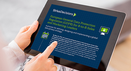 European General Data Protection Regulation (GDPR) for B2B Sales and Marketing Leaders E-Book