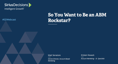 So You Want to Be anABMRockstar? Webcast Replay
