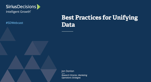 Best Practices for Unifying Data Webcast Replay