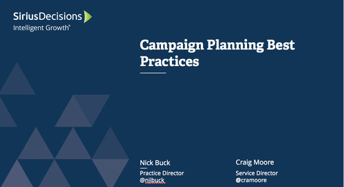 Campaign Planning Best Practices: Webcast Replay