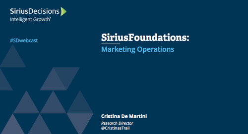 SiriusFoundations: Marketing Operations and Measurement Webcast Replay