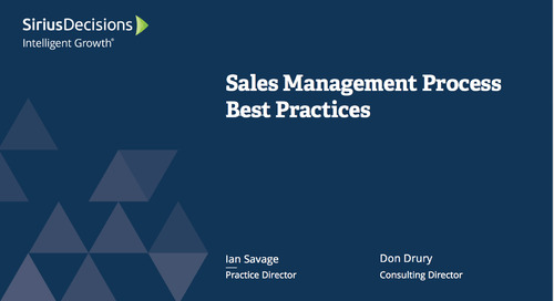 Sales Management Process: Best Practices Webcast Replay