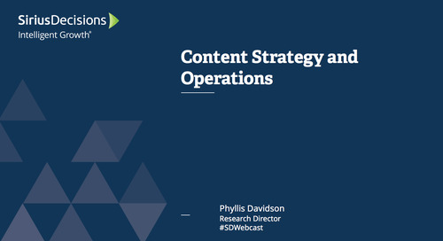 Content Strategy & Operations: Planning Assumptions for 2017 Webcast Replay