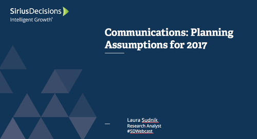 Communications: Planning Assumptions for 2017 Webcast Replay