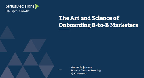 The Art & Science of Onboarding B-to-B Marketers Webcast Replay