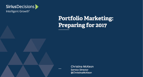 Planning Assumptions for 2017: Portfolio Marketing Webcast Replay