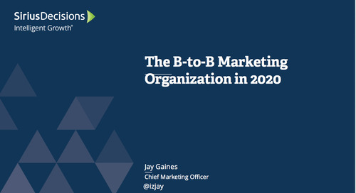 The B-to-B Marketing Organization in 2020 Webcast Replay