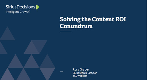 Solving the Content ROI Conundrum Webcast Replay