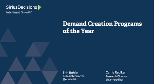 Demand Creation Programs of the Year Webcast Replay
