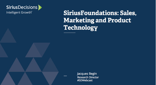 SiriusFoundations: Sales, Marketing and Product Technology Webcast Replay