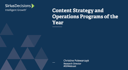 Content Strategy and Operations Programs of the Year Webcast Replay