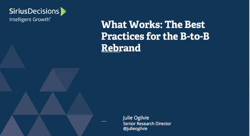 What Works: Best Practices for the B-to-B Rebrand Webcast Replay