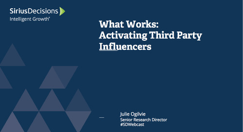 What Works: Activating Third-Party Influencers Webcast Replay
