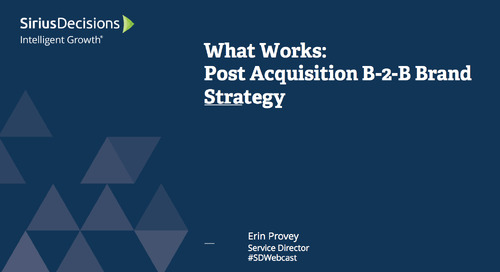 What Works: Post-Acquisition B-to-B Brand Strategy Webcast Replay