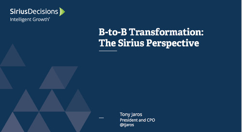B-to-B Transformation: The SiriusPerspective Webcast Replay