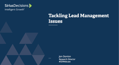 Tackling Lead Management Issues Webcast Replay