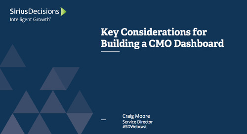 Key Considerations for Building a CMO Dashboard Webcast Replay