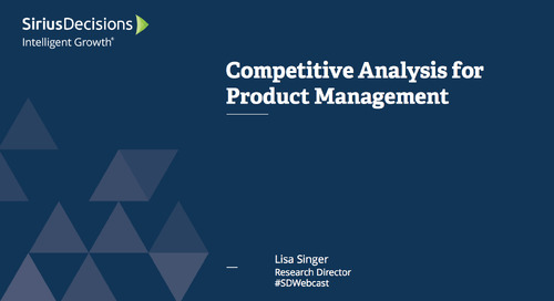 Competitive Analysis for Product Management Webcast Replay