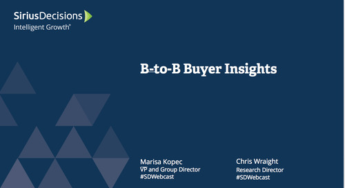 B-to-B Buyer Insights Webcast Replay