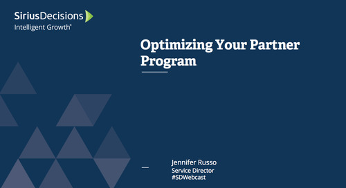 Optimizing your Partner Program – Feature Webcast Replay for Payers