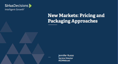 New Markets: Pricing and Packaging Approaches Webcast Replay