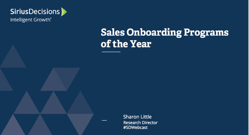 2015 Sales Onboarding Programs of the Year Webcast Replay