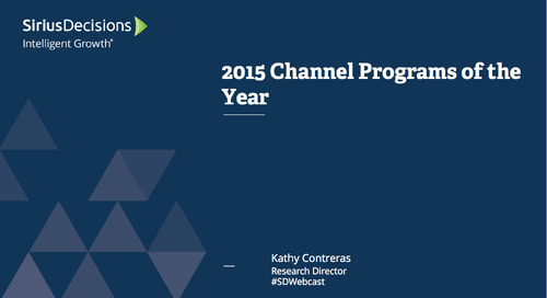 2015 Channel Programs of the Year Webcast Replay