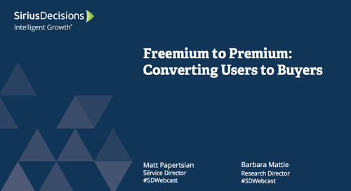 Freemium to Premium: Converting Users to Buyers Webcast Replay