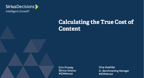 Calculating the True Cost of Content Webcast Replay