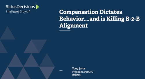 Compensation Dictates Behavior... and is Killing B-to-B Alignment Webcast Replay