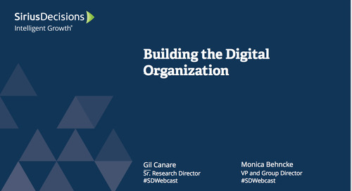 Building the Digital Organization Webcast Replay