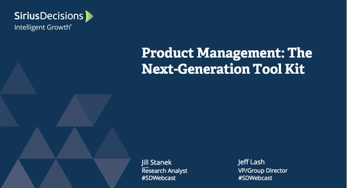 Product Management: The Next-Generation Toolkit Webcast Replay