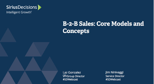 B-to-B Sales: Core Models and Concepts Webcast Replay