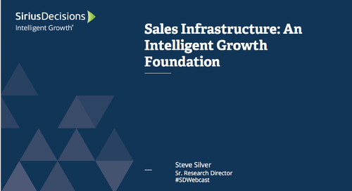 Sales Infrastructure: An Intelligent Growth Foundation Webcast Replay