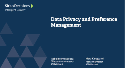 Data Privacy and Preference Management Webcast Replay